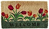 Kempf Welcome Tulip Natural Coco Doormat, 18 by 30 by 1-Inch