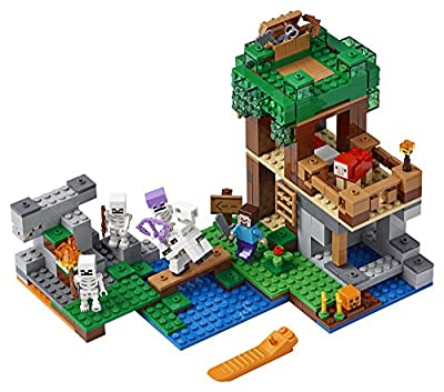 LEGO Minecraft The Skeleton Attack Building Kit (457 Piece), Multicolor from LEGO
