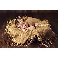 Burlap Blanket Newborn Photography Prop Baby Photo Prop Blanket