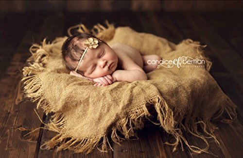 Burlap blanket newborn photography prop baby photo prop blanket