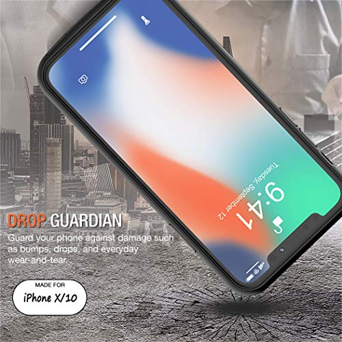 iPhone X Battery Case, Euhan 4000mAh Rechargeable Portable Power Charging Case for iPhone X (5.8 inch) Extended Battery Pack Protective Ultra Thin Charger Case,Compatible with Wire Headphones (Black) by Euhan (Image #4)