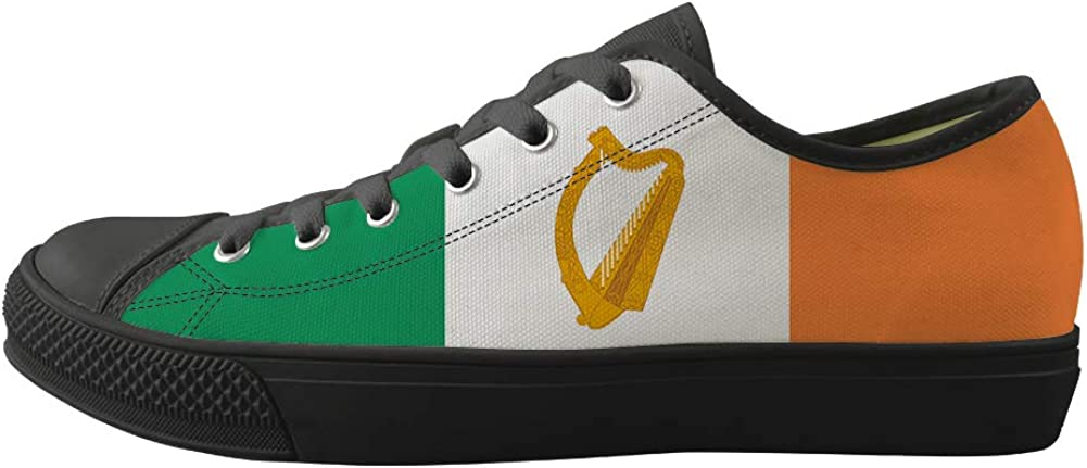 Classic Sneakers Unisex Adults Low-Top Trainers Skate Shoes Ireland Flag National Emblem