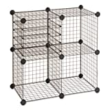 Cheap Wire Cube Shelving System, 15w x 15d x 15h, Black, Sold as 1 Set