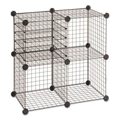 Wire Cube Shelving System, 15w x 15d x 15h, Black, Sold a...