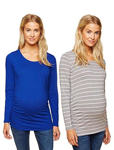 Long Sleeve Maternity Tee (Motherhood Bumpstart Long Sleeve Maternity T-Shirt (2 Pack))