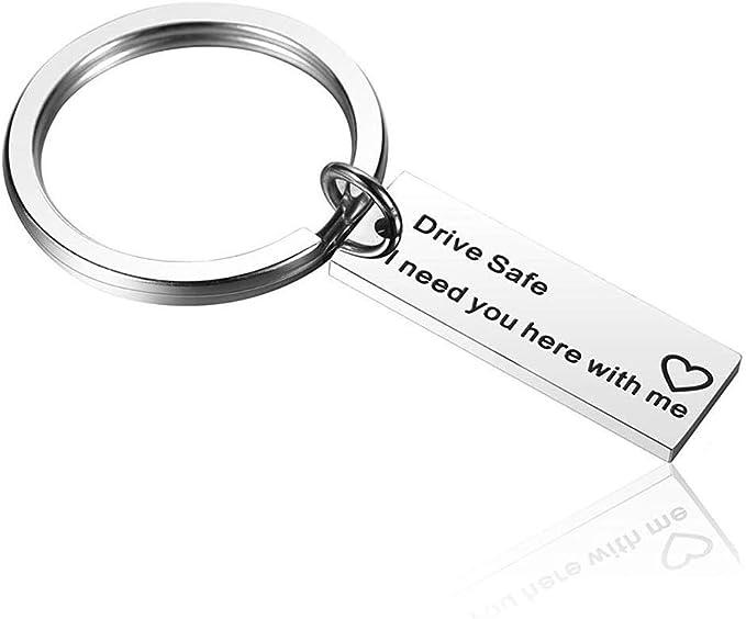 Warm Keychain Drive Safe Ich Brauche Sie Hier Mit Mir Geschenke Für Freund Mann Bester Freund Geburtstagsgeschenk Schlüsselanhänger Bekleidung