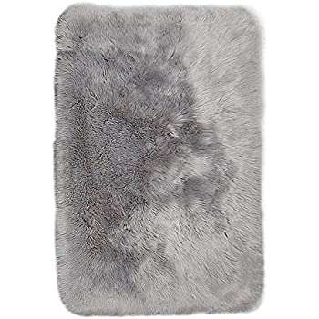 Amazon Com Junovo Luxury Plush Fuax Sheepskin Area Rug