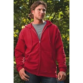 Hanes Ultimate Cotton Fleece Full-zip Men's Hooded Sweatshirt - Ash - Small