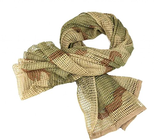 Camouflage Netting, LOOGU Tactical Mesh Net Camo Scarf For Wargame,Sports & Other Outdoor Activities from LOOGU