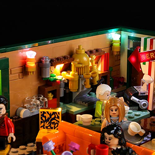 BRIKSMAX Led Lighting Kit for Friends Central Perk - Compatible with Lego 21319 Building Blocks Model- Not Include The Lego Set