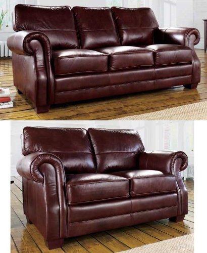 Alex piel de vino Set de 3 mantas para sofá 2 + sofás ...