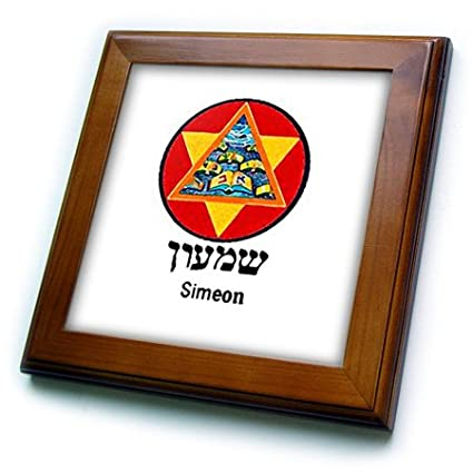 Buy 3drose Ft1746151 Image Of Simeon Hebrew Tribe Symbol Framed