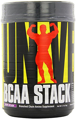 Universal Nutrition BCAA Stack - Branched Chain Amino Acids with Glutamine, Grape Splash by Universal Nutrition
