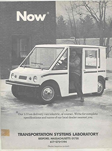 1973 Transportation Systems Urban Delivery Van Electric Truck Brochure from Transportation