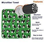 GLing-LIFE Border Collie Dog Cute Hand Towels Microfiber Cleaning Cloths Quick Dry Hand Drying Towel Dish Cloth Wipes Rags for Kitchen & Bathroom 2 PCS 7