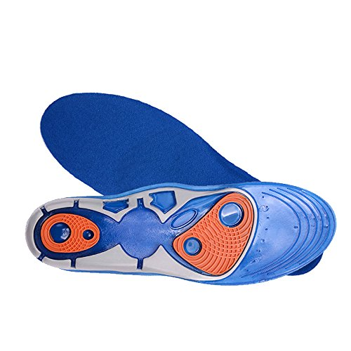Gel Sports Insoles by WinnBase, Athletic Shoe Inserts for Work Boots and Running Shoes (Men's Sizes 8-13/Women's Size 5-10), 1 Pair (8 Pair Appliance)