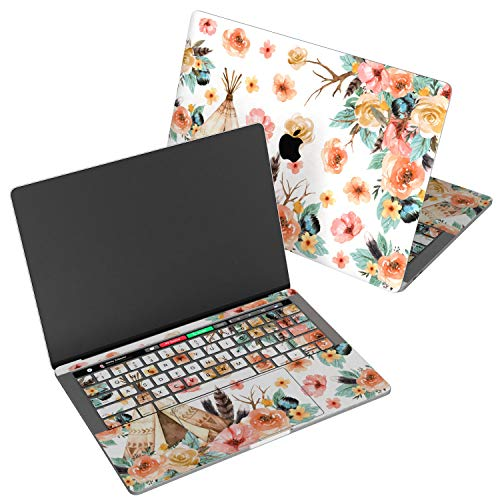 - Wonder Wild Skin for MacBook Decal Vinyl Air 11 inch 15 Apple Mac 13 Retina 12 Pro 15 Keyboard 2019 2018 2017 2016 2015 Protective Sticker Floral Wigwam Pattern Roses Feathers Leaves Aquarelle Pastel