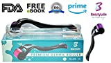 Premium Derma Roller Kit | Titanium Needles – Home Use Skin Care Facial Tool with Travel Case | 540 0.5mm |Free E-Book Included|