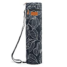 Elenture Full-Zip Exercise Yoga Mat Carry Bag with Multi-Functional Storage Pockets and Adjustable Strap