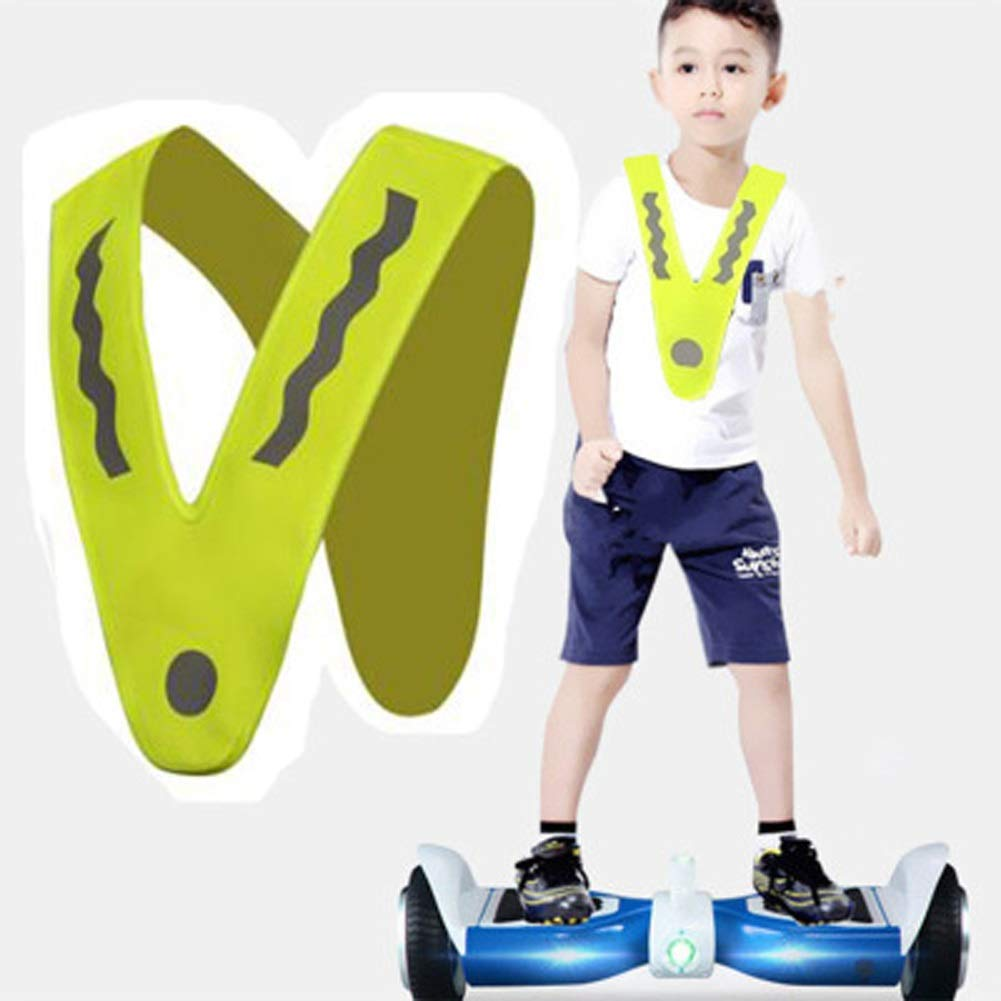 RYYAIYL Kids Reflective Safety Vest, Lightweight Adjustable High Visibility Reflective Vest for Child, Night Running Walking Jogging Cycling Riding/16x11.8inches