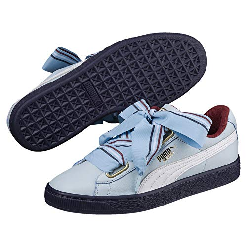 5 Wn Blu Heart Celeste 02 367734 Basket Sneakers 38 New School Bianco Puma Celeste xX7fS6Oq