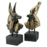 Design Toscano Gods of Ancient Egypt Sculptures: Anubis and Horus