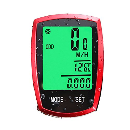 Wolfride Cyclists Wireless Backlight Bicycle Computer Cycling Bike Odometer Speedometer Multi Function