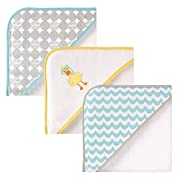 Luvable Friends 3 Piece Hooded Towels, Scuba Duck 30 X30