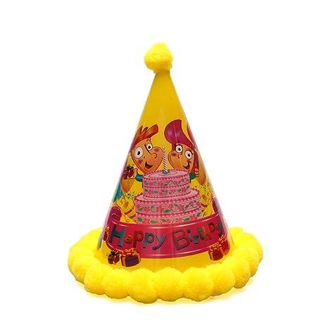 Amosfun Sombreros de Fiesta de cumpleaños Sombrero de Cono Luz para Arriba  Sombreros de Fiesta con a5e15136cc9