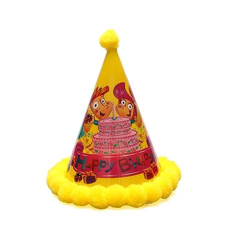 Amosfun Sombreros de Fiesta de cumpleaños Sombrero de Cono ...