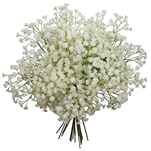 """Duovlo 10pcs Babies Breath Flowers 23.6"""" Artificial Gypsophila Bouquets Real Touch Flowers for Wedding Home DIY Decor 3"""