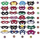 Okk Superheroes Party Masks for Children 28 Piece hero Masks Perfect for Children Aged 3+ Birthday Supplies