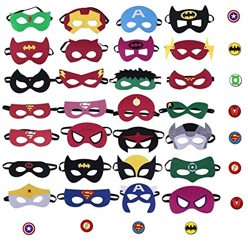 Okk Superheroes Party Masks for Children 28 Piece