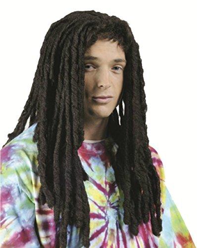 Dreadlocks Wig - Reggae Wig for Guys, Girls, Children - 2 Colors - #1 Reggae Hippie Rasta Wig (Black)