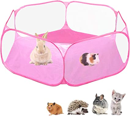 Outdoor//Indoor Pop Open Pet Exercise Fence Chinchillas and Hedgehogs Amakunft Portable Small Animals Playpen Hamster Guinea Pig Accessories C/&C Cage Tent for Rabbits