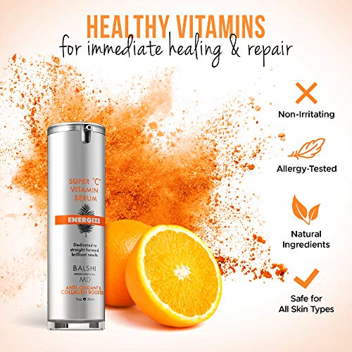 51kNt4F4i2L - Energize Vitamin C Serum for Face & Eyes - Clinical Strength Collagen Booster with Triple Vitamin C - Dermatologist Developed Skin Care For Anti-aging, Fades Dark Spots and Repairs Sun Damage 1oz