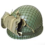 Reproduction WW2 US Paratrooper Helmet With First Aid Pouch Bag Cosplay Collection