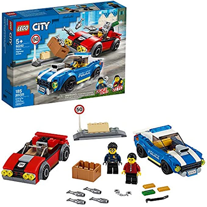 (new 2020)  מעצר משטרה בכביש מהיר 60242 LEGO City