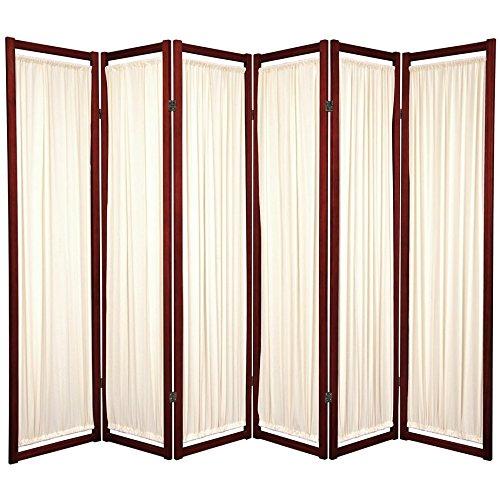 Panel Wood Floor Screen - ORIENTAL FURNITURE 6 ft. Tall Helsinki Shoji Screen - 6 Panel - Rosewood
