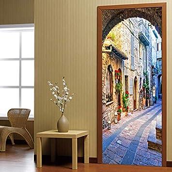 Papel pintado de la puerta Cartel autoadhesivo - Decoración ...