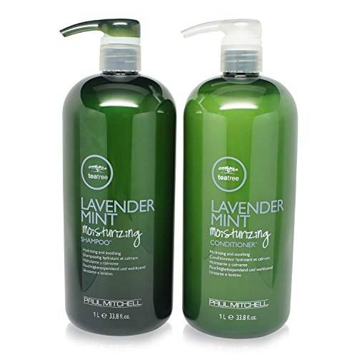 Paul Mitchell Tea Tree Lavender Mint Moisturizing Shampoo 1 Liter/ 33.8oz and Conditioner 1 Liter/ (Tea Tree Shampoo)