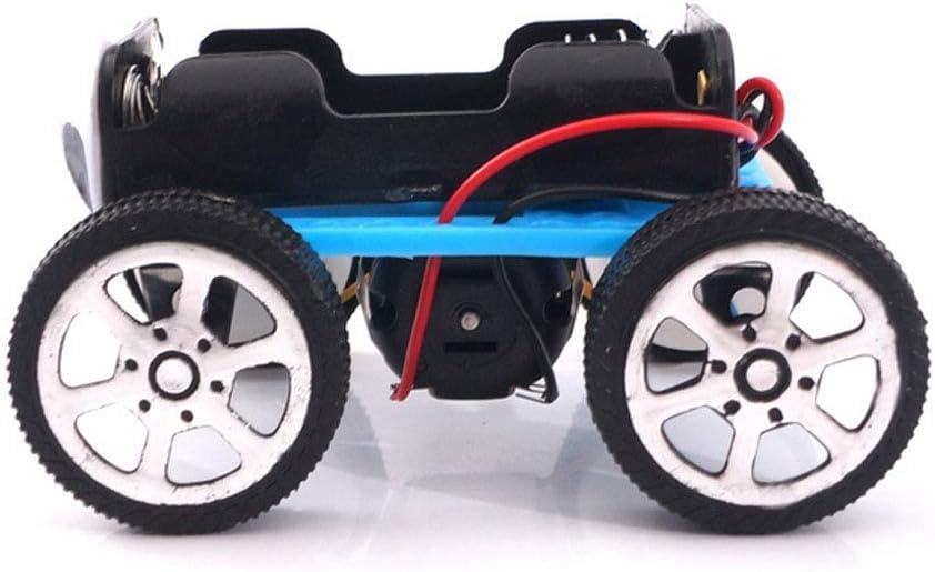 Romote DIY Allradantrieb Auto Wissenschaftliches Experiment Spielzeug-Kind-Montag Elektrorolle Vier-Rad-Antrieb-Auto-Modell-Ausbildungs-Spielzeug