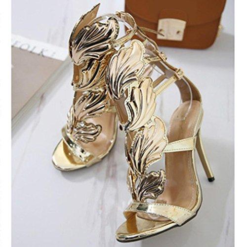 Sandali Donna Fheaven Summer Dress Dress Shoes Sexy Sandali Con Tacco A Spillo E Tacco Alto In Oro