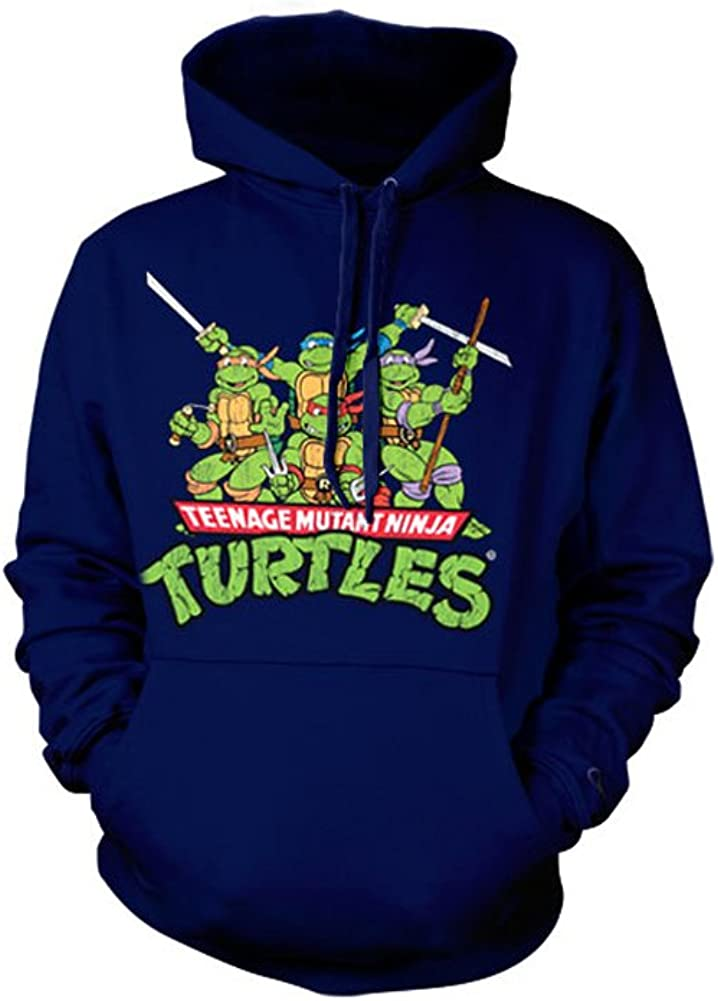 Teenage Mutant Ninja Turtles Officially Licensed Merchandise TMNT Distressed Group Hoodie