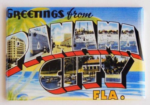 Greetings From Panama City Florida Fridge Magnet