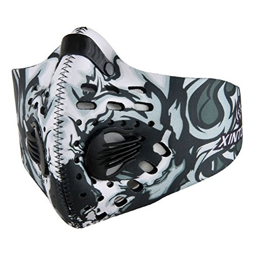Cycling Compression Mask, Elevation and Workout Mask (White/Gray)