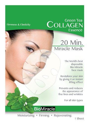 BioMiracle 20 Min. Rejuvenating Miracle Mask - Green Tea: Firmness & Elasticity (5 Sheets)