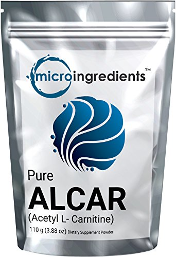 Micro Ingredients Pure Acetyl L-Carnitine (ALCAR) Powder, 110 grams