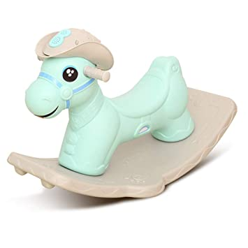 Outstanding Amazon Com Qy Yq Baby Rocking Chair Horse Plastic Music Machost Co Dining Chair Design Ideas Machostcouk