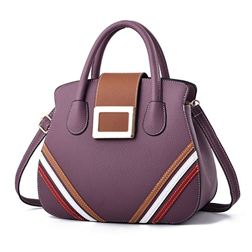 And Womens Bags Handbags Bags Bags Shoulder Shoulder Leather Deerword Pink Pu Purple Shoppers Totes xpXwdCvn5q